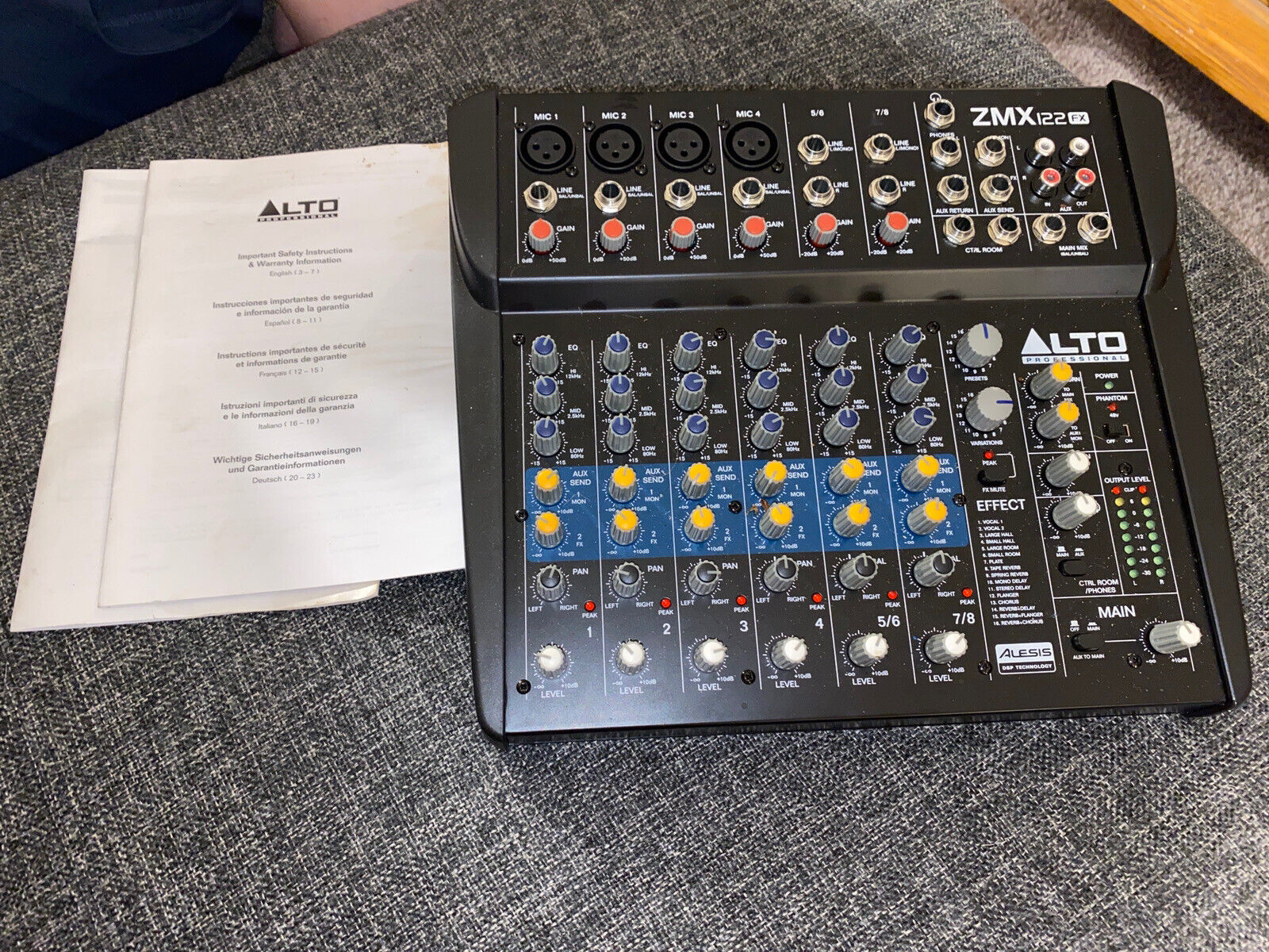 8 Channel Compact Audio Mixing Desk with Built-In Effects Alto ...