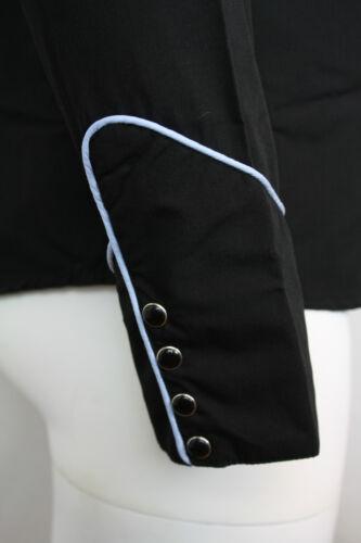 Manches Western Uni Bleu Cowboy Noir Passepoil Longues Ciel Avec Chemise Relco 1qztnn