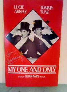 Lucie Arnaz Tommy Tune My One and Only Poster Head Shot Lucille COA Video