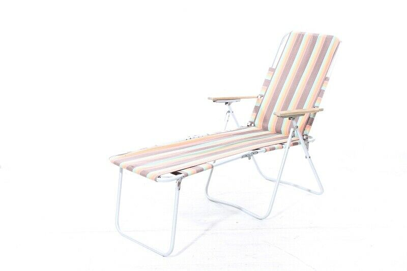 1x Folding Chair Camping lounger chair cult retro vintage  camping chair  up to 65% off