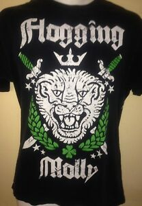 FLOGGING-MOLLY-LION-CREST-SMALL-T-SHIRT-PUNK-ROCK-OUT-OF-PRINT-CELTIC-PUNK
