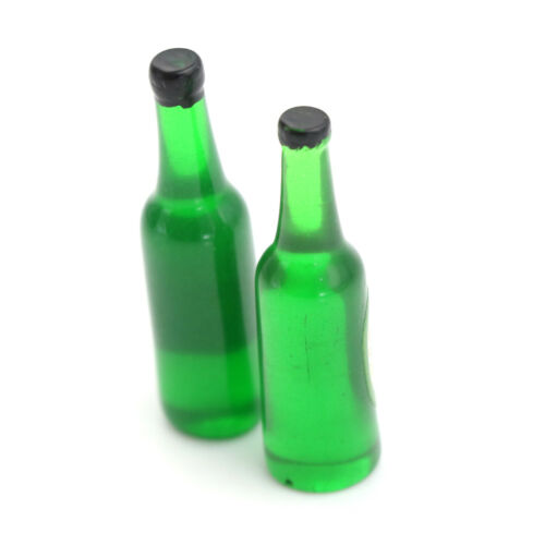 2PCS 1:12 Miniature Beer Bottle Dollhouse Accessories KitchenwareES