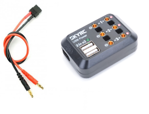 Sky RC DC Power Distributor With 3 x 4mm DC Outputs and 2 x USB SK-600114-01