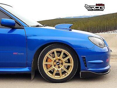 "RPG STi Large 4/"" Blue Hood Scoop Upgrade for 04-05 Subaru Impreza WRX STi GDB"
