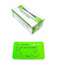 1200 Pack 20 Training Surgical Sutures Nylon Braided Sterile With Needle Blue