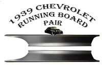 Chevrolet Chevy Car Steel Running Board Set 39 1939 All Models - Made In Usa