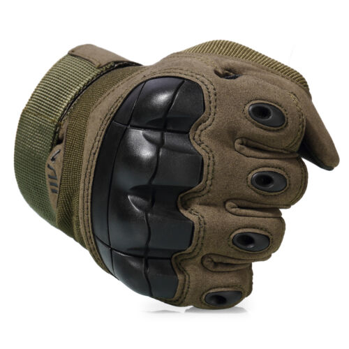 Touchscreen Tactical Hunting Rubber Shooting Full Finger Gloves Mens Motorcycle