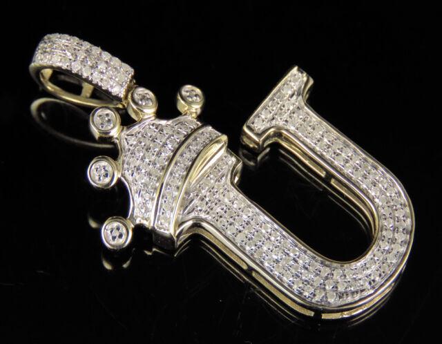 10k Yellow Gold Crown Pendant