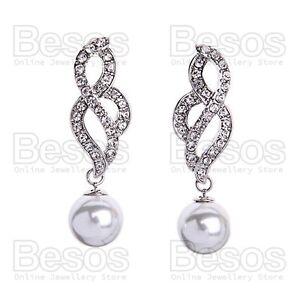 5cm-ELEGANT-WHITE-PEARLS-dropper-18KGP-EARRINGS-silver-rhinestone-CRYSTAL-GIFT