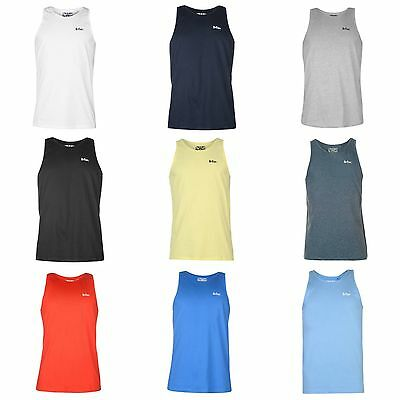 Lee Cooper Mens Vest Sport Running Gym Boxing Sleeveless T shirt S M L XL XXL