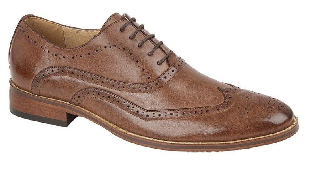 men Goor M9556 Firma Ala Cappello Robuste Oxford shoes Mid brown