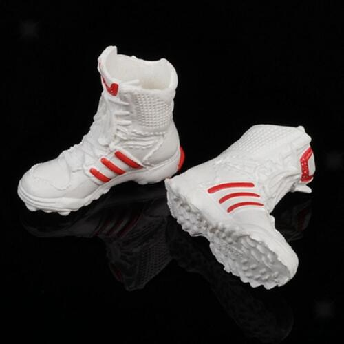 """1//6 Scale Shoes Model Combat Boots for 12/"""" Female Action Figure Body White"""