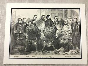 1855 Vienna Conferenza Lord John Russell Originale Vittoriano Antico Stampa