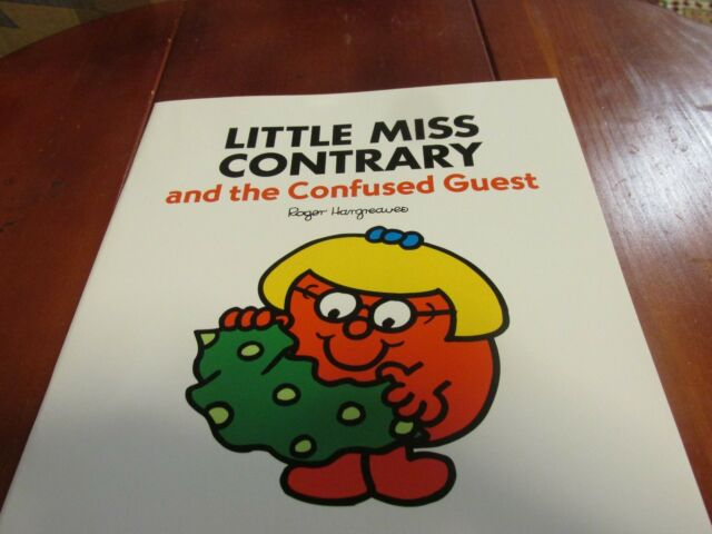 Large Size Mister Men Book LITTLE MISS CONTRARY and the Confused Guest