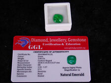 5.00 ct. Natural Certified Zambian Emerald Cushion Shape Emerald Loose Gemstone