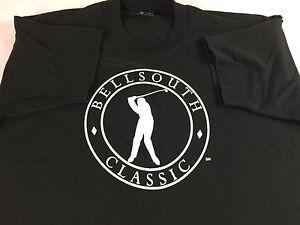 Bellsouth-Classic-T-Shirt-VTG-90s-Mens-2XL-Black-White-USA-Made-Atlanta-Georgia
