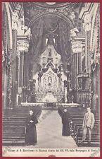 MODENA CITTÀ 106 INTERNO CHIESA ALTARE - COMPAGNIA DI GESÙ Cartolina viagg. 1925