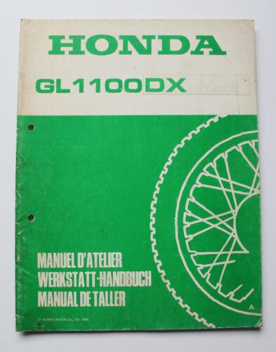 Officina Manuale complemento SHOP MANUAL D /'Manuel atelier HONDA GL 1100 DX