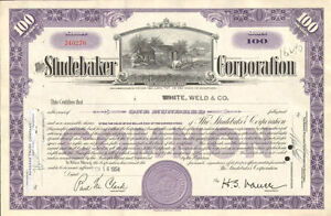 The-Studebaker-Corporation-1940s-1950s-vintage-auto-car-stock-certificate-share