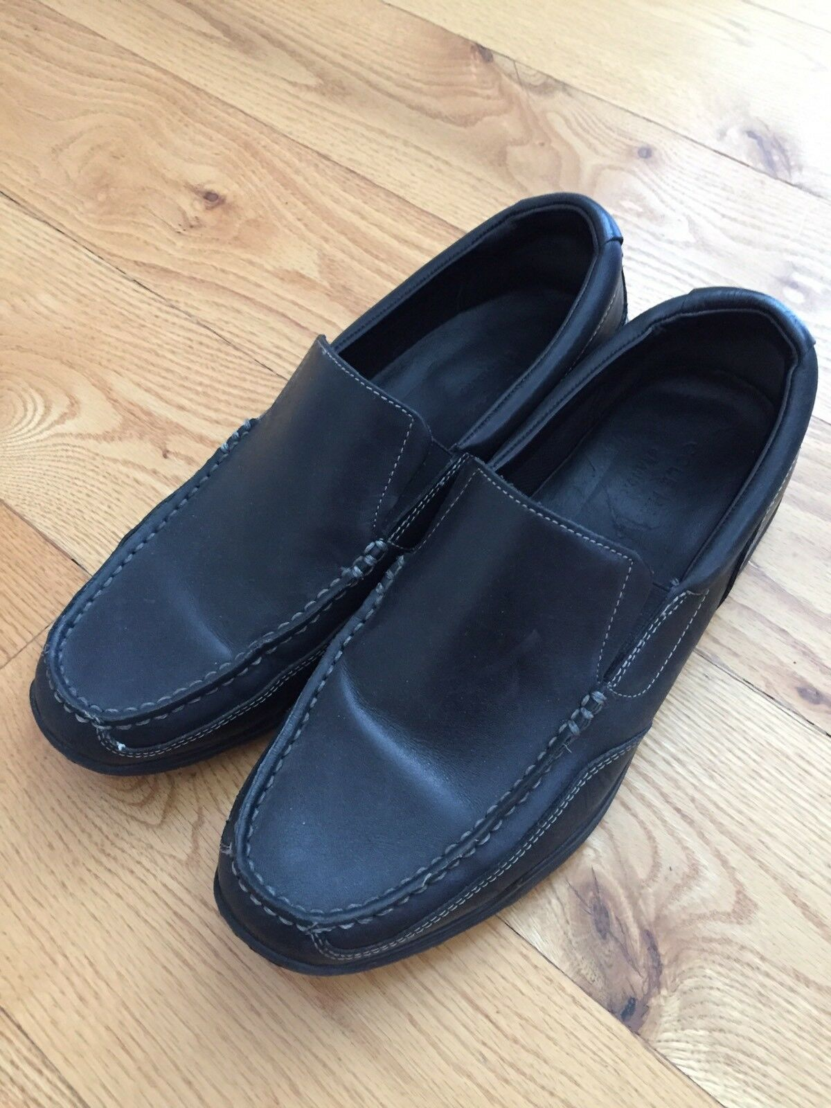 Cole Haan Mens Black Grand.OS Slip On Business Casual Loafers Dress Shoes 8.5