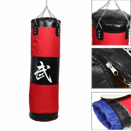 100CM Boxing Punching Bag Thai Training Fitness MMA Kick Fight Sand Bag Punch