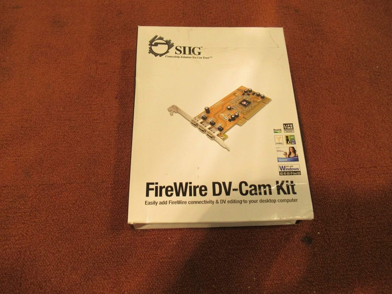 SIIG Firewire DV-Cam Kit E189350 with DVD & Instruction Guide