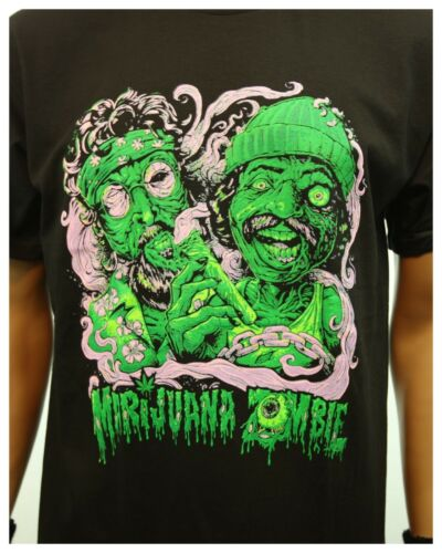 Weed Marijuana Zombie Pot Printed Graphic T-Shirt Casual Fashion Urban Tee