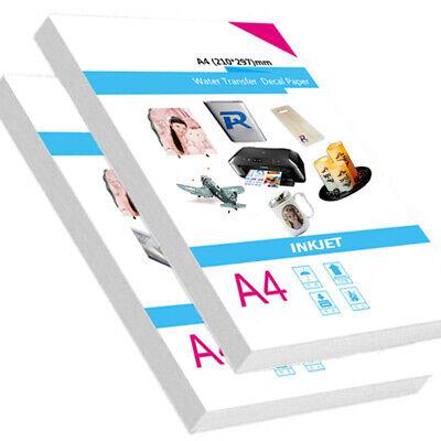 10x A4 Water Slide Decal Paper Inkjet Waterslide Tattoo Transfer Printing Paper