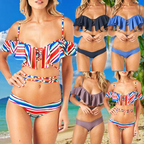 Women Lady Push-up Bikini Padded Bandage Swimsuit Swimwear Beachwear Bathing Sui