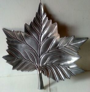 Large Metal Leaf Serving Dish Maple Leaf Can Hang On Wall