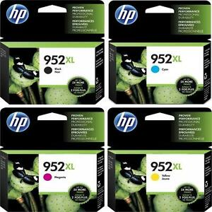 1-SET-HP-GENUINE-952XL-Black-amp-Color-Ink-NO-RETAIL-BOX-OFFICEJET-PRO-8710-8715