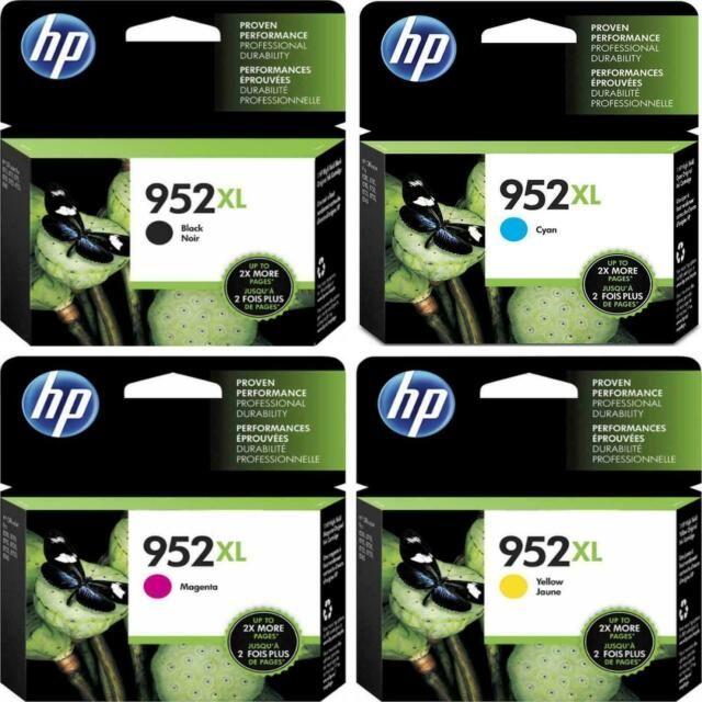 NO RETAIL BOX OFFICEJET PRO 8710 8715 8717 3-PACK HP GENUINE 952XL Color Ink