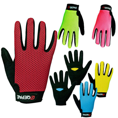 Unisex Cycling Bicycle Bike Motorcycle Gel Silicone Full Finger Riding Gloves