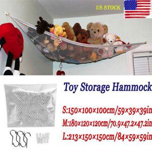 Kids Room Toy Hammock Net With Hook Stuffed Jumbo Animals Organize Storage Organizer New Kids Toys Baby Mesh Toy Storage Box Baby Bedding Crib Netting