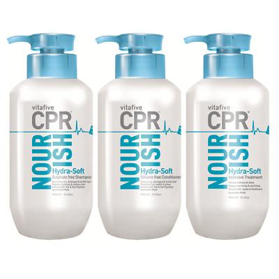 Vita 5 CPR Nourish Hydra-Soft Shampoo/Conditioner/Treatment 900ml (Vita Five)