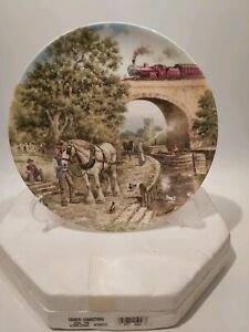 Wedgwood-Collectors-Plate-034-Over-The-Canal-034-By-John-Chapman-Boxed