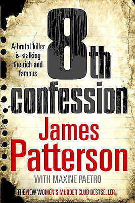 """""""AS NEW"""" Patterson, James, 8th Confession, Book"""