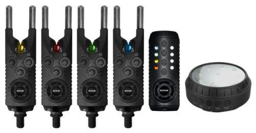 Set of 2 Bivvy Light Sonik Gizmo Bite Alarms 3 or 4 Alarms Receiver Single