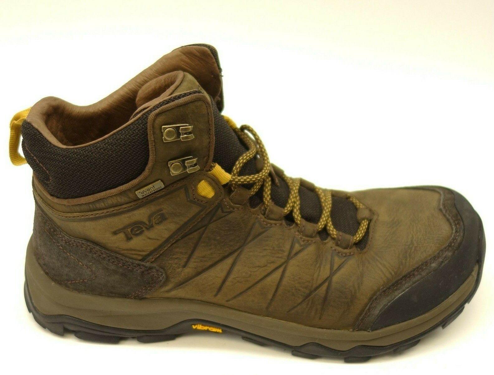 Teva Arrowood Riva US 10 Brown Mid Waterproof Hiking Trail Mens shoes