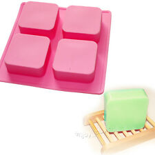 Geometric Basic Plain Square Lotion Soap Bar Mold Silicone Making for Homemade
