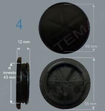 4 Borchie coprimozzo Ø 55 mm innesto circa 42 non originali per cerchi in lega