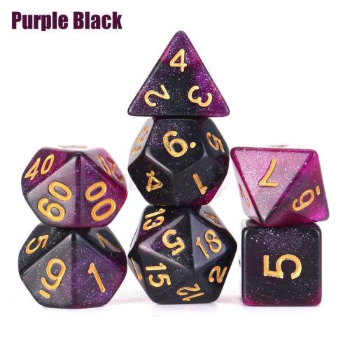 Gesellschaftsspiele D20 D12 D10 D8 D6 D4 7 St Würfel Polyhedral Set Für Dungeons Und Drachen Karrizoind