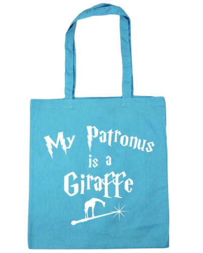 My Patronus Is A Giraffe Tote Shopping Gym Beach Bag 42cm x38cm 10 litres