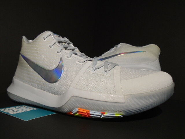 NIKE KYRIE 3 TS IRIDESCENT TIME TO SHINE PURE PLATINUM GREY VOLT 852416-001 13