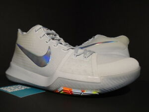 4297995cf8a NIKE KYRIE 3 TS IRIDESCENT TIME TO SHINE PURE PLATINUM GREY VOLT ...
