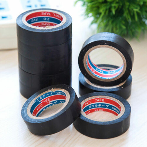 1x PVC Electrical Wire Insulating Tape Roll Black 20M Length 16mm Wide Black