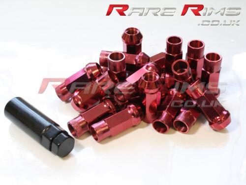 Red GT50 écrous de roue x 20 12x1.25 fits SUBARU IMPREZA STI WRX GT86
