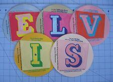 Elvis Presley 5 Record Set 45 Rpm Spells E..L..V..I..S Picture Disc Maybellene