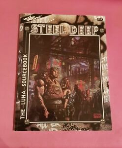 Steel Deep - Le recueil de sources Luna Underground de Mayfair Games Rpg Roleplaying Oop