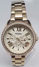 Fossil Women's AM4482 Cecile Gold-tone Stainless Steel Watch Broken Sold As Is!!